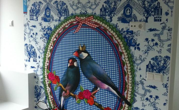 Pip behang voor een stoere meidenkamer op zolder